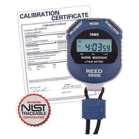 REED INSTRUMENTS SW600-NIST Digital Stopwatch with NIST Calibration Certificate