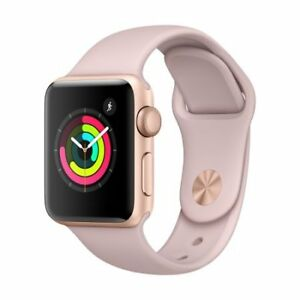 Apple Watch Series 3 GPS, 38mm Gold Aluminum Case with Pink Sand