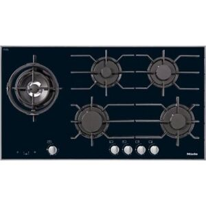"MIELE BLACK GLASS 36"" 5 BURNER NATURAL GAS COOKTOP"