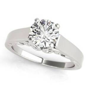 1.52 ct tw Solitaire Diamond Engagement Ring in 14K White Gold