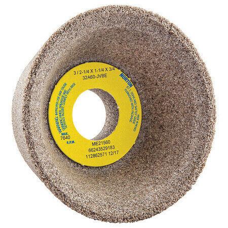 Norton 66243529183 Flaring Cup Toolroom Wheel,3 In. Dia.