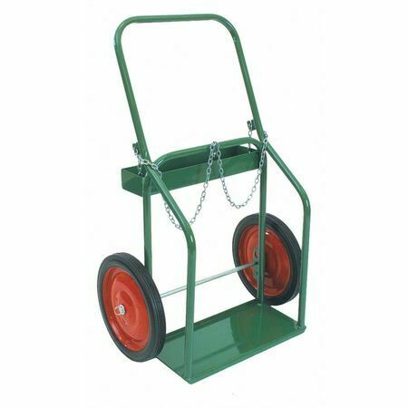 "Sumner 782424 Double Cylinder Cart,High Rail,14"" Wheel"