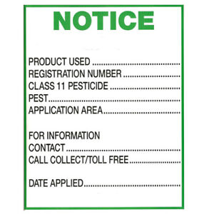 Residential Pesticide signs for sale.