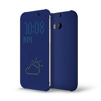 Brand New HTC One M8 Dot View Cover - Grey/Imperial Blue