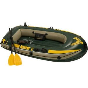 Intex 2 man inflatable boat with oars and life jackets