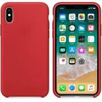 Hoogwaardige Silicone iPhone X / XS Case Cover Hoes Rood