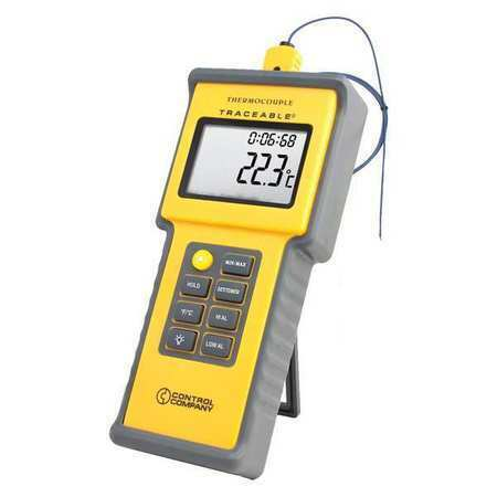 TRACEABLE 4015 Thermocouple Thermometer,1 Input,Type K