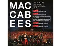 2 x Maccabees standing tickets Alexandra Palace Saturday 1st July