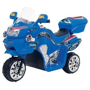 Kids Racer electric/Battery Power 3 Wheels motorcycle/Bike. Blue