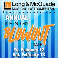 Check out the DEALS @ Long & McQuade's Annual Inventory Blowout!