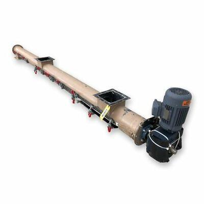 Used 7 Dia. X 11l Tubular Screw Auger Conveyor