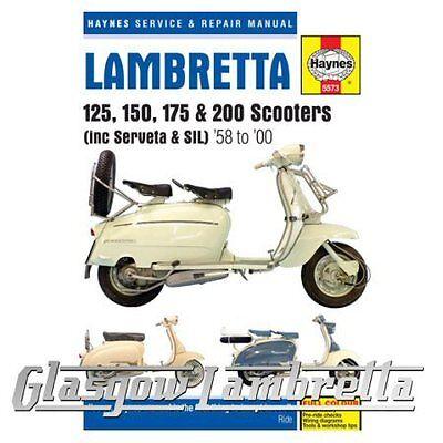 Haynes Service & Repair Manual Lambretta Scooters 1958-2000 + free stickers