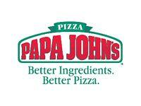 Papa John's Nuneaton Staff Wanted (Drivers & In-Store)