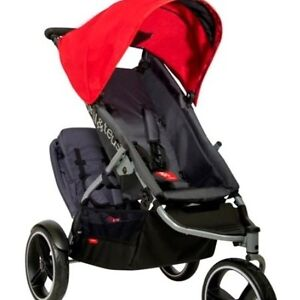 Phill & Teds stroller color gray&red