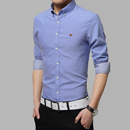Men's Luxury Stylish Casual Long Sleeve Slim Fit Dress Shirt