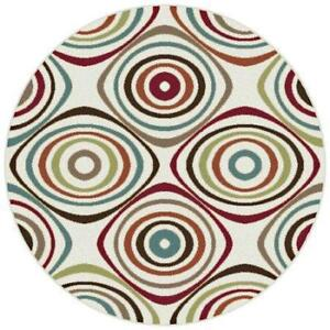 New Karen Design Round Area Rug (5 ft. 3 in. Dia.) Size 160x 160R DI14