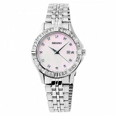 Seiko Women's Pink Mother of Pearl Dress Watch SXDF13