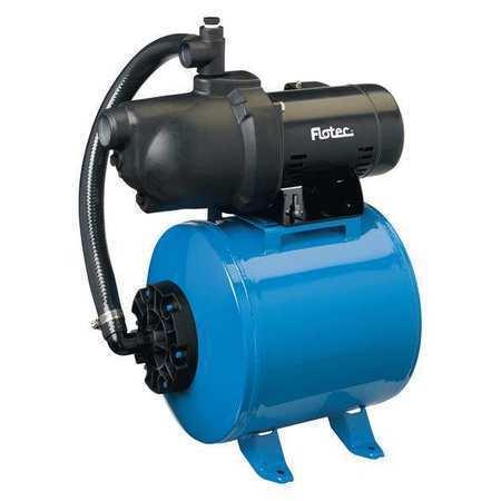 FLOTEC FP401215H Jet Pump, Tank, Shallow Well, 1/2HP