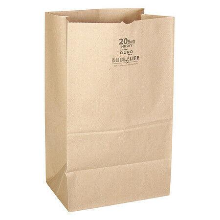 """Duro 70221 Grocery Bag,Brn,5-5/16"""" L,8-1/4"""" W,Pk400"""