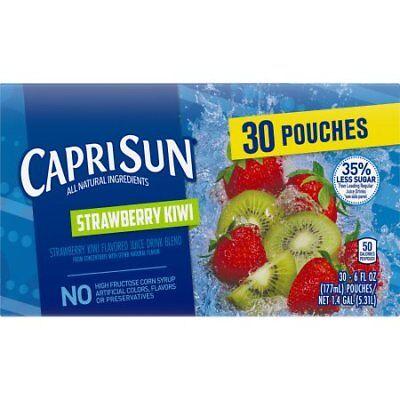 Kiwi Juice - Capri Sun Juice Pouches, Strawberry Kiwi, 6 Fl Oz, 30 Count W