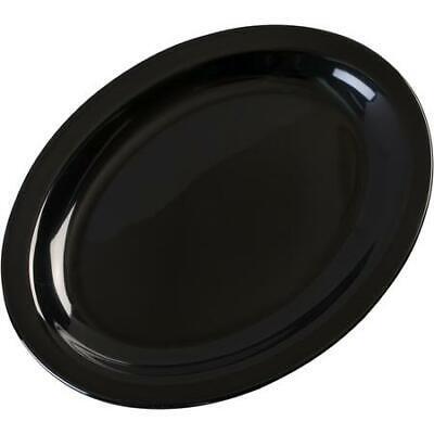 "Carlisle KL12703 Kingline Melamine Oval Platter Tray 12"" x 9"