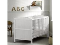 Solid wood cot baby