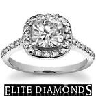 1 Carat Cushion Cut Diamond Ring