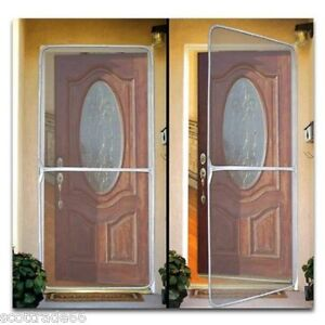 Instant Screen Door Mesh-Keep Bugs out Fresh Air In-Home Office Doors up to 36