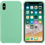 Hoogwaardige Silicone iPhone X / XS Case Cover Hoes Groen
