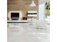20x Mountain White Gloss Floor Tiles 60cm x 60cm