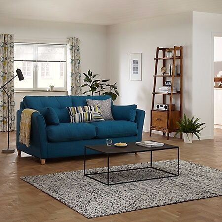John Lewis Chopin Medium Sofa Bed Fraser Teal Colour Nearly New Dimensions H94 X W184