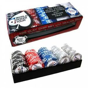 Ensemble jetons officiel World Poker Tour 100 pieces
