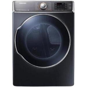 "Samsung DV56H9100EG Dryer, 33"" Width, Electric Dryer, 9.5 Cu. Ft. Capacity, Stainless Steel, Colour: Onyx"