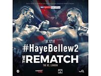 2x Tickets Haye v Bellew 2 (£120 each)