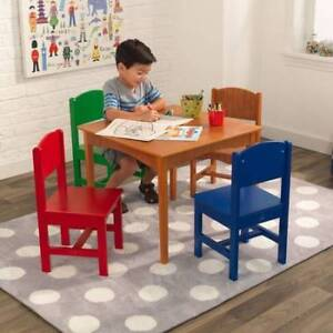Solid Wood KidKraft Nantucket Table + 4 Chairs ($157 new)