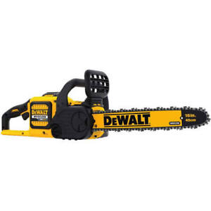 Dewalt 60Volt Flexvolt chainsaw with battery and fast charger