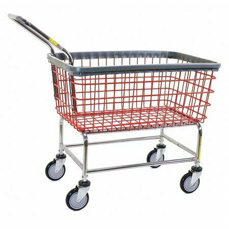 R&B Wire Products Inc. 200Cfrlch Wire Laundry Cart,600 Lb. Ld Cap.,Red