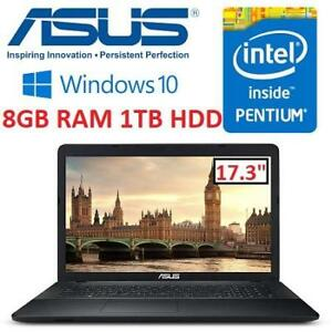 "NEW ASUS LAPTOP PC 17.3"" X751NA-DS21Q 223586185 PENTIUM N4200 8GB RAM 1TB HDD WIN10 HOME 64BIT NOTEBOOK COMPUTER INTEL"
