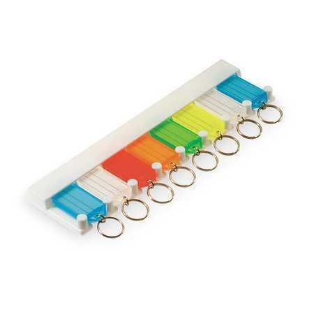 Lucky Line Products 60580 8 Tag Key Tag Rack, Multi