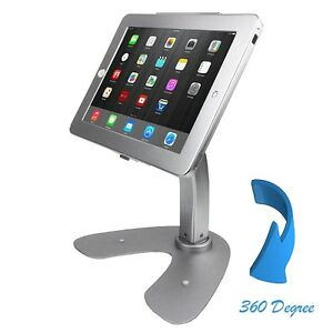 iPad POS Desktop V-Shape Stand w/Security Lock