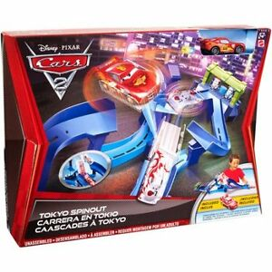 CARS 2 Tokyo Spinout Track Set by Mattel in MINT CONDITION!