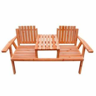 Outdoor Wave Bench Seat And Table Outdoor Dining