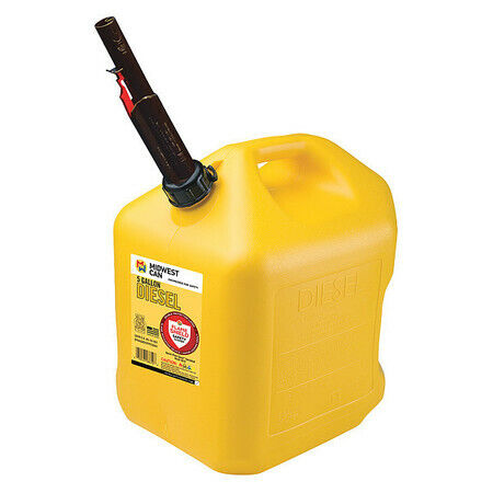 FLAME SHIELD 8610 Diesel Fuel Can,5 gal.,Self,Yellow,HDPE