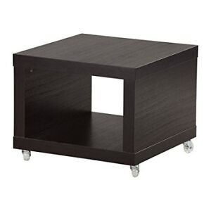 Ikea Lack Side Table On Casters Black Brown
