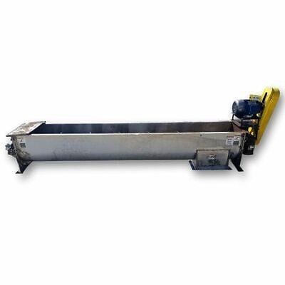 Used Kws Mfg 16 Dia. X 10 Long Screw Auger Industrial Conveyor
