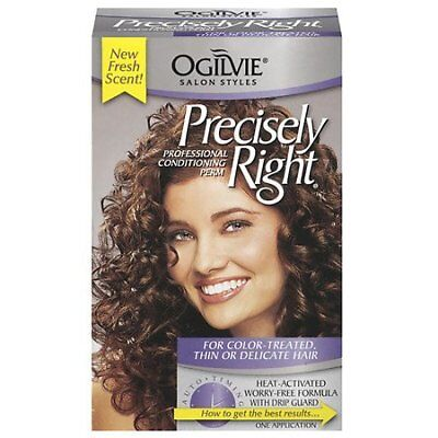 Ogilvie Precisely Right Perm, Color-Treated, Thin or Delicate Hair, 1 Kit
