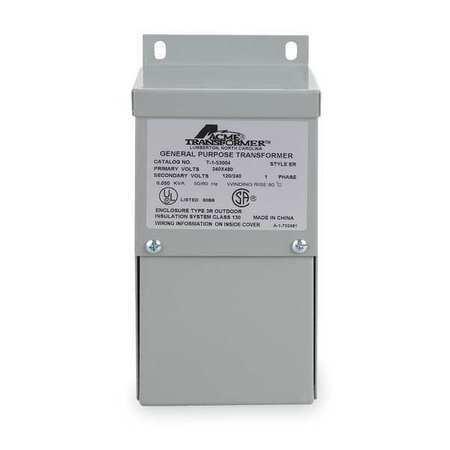 ACME ELECTRIC T253013S Transformer,3kVA,120/240V,Wall