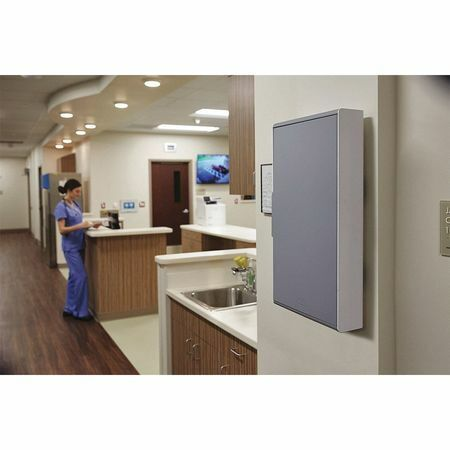 "RUBBERMAID 2017162 Storage Cabinet,Plastic,6"" W,Gray"