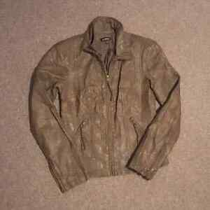"""Women's Tan """"Leather"""" Jacket - Small"""