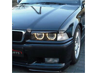 BMW headlight eyebrow brow frames kit cover eyelids car styling black